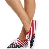 Red Americana Living Sneakers