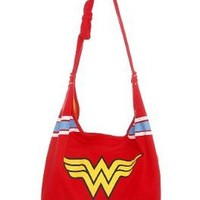 Wonder Woman DC Comics Logo Super Hero Hobo Bag