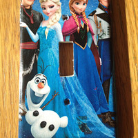 Frozen Anna Elsa Olaf Sven Light Switch Covers Wallplates Switchplates Home Decor Outlet 14 STYLES AVAILABLE