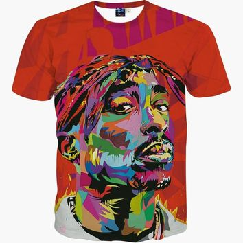 3D T Shirt Bob Marley Summer Cool Tees Tops Brand Clothing Animation