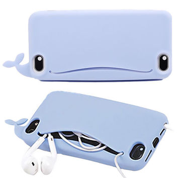 Cute Whale iPhone Case For iPhone 7 7 plus iphone 5 5s SE 6 6s plus + Nice gift box 072301