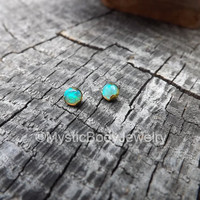 Opal Dermal Tops 14g Rose Gold 12g Titanium 4mm Prong Set Anchor Top Lip Piercing Jewelry Labret Post White Opals Surface Green Gem Blue