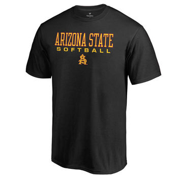 Fanatics Branded Arizona State Sun Devils Black True Sport Softball T-Shirt