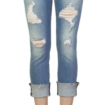 Dear John Playback Cuffed Montauk Cropped Straight Leg Jeans