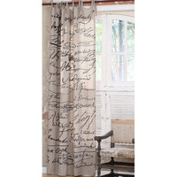 Ephemera Linen Curtain?::?Curtains and Window Treatments?::?Home Furnishings?::?Elizabeth's Embellishments