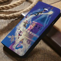 Disney All Characters Flying Custom Wallet iPhone 4/4s 5 5s 5c 6 6plus 7 and Samsung Galaxy s3 s4 s5 s6 s7 case
