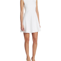 Brands | Little White Dresses | Feather Cutout Fit and Flare Dress | Lord and Taylor