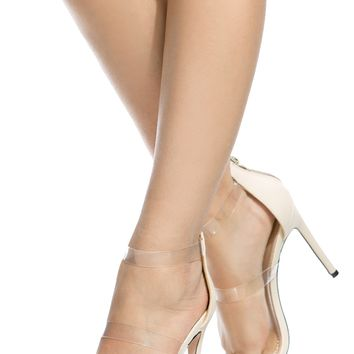 Nude Faux Leather Clear Multi Strap Heels @ Cicihot Heel Shoes online store sales:Stiletto Heel Shoes,High Heel Pumps,Womens High Heel Shoes,Prom Shoes,Summer Shoes,Spring Shoes,Spool Heel,Womens Dress Shoes