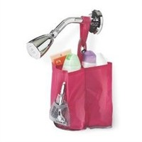 3 Bottle Hanging Shower Caddy - Pink