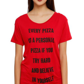 Every Pizza Is Personal Girls T-Shirt