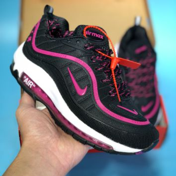 DCCK2 N351 Nike Air Max 98 20th Anniversary Casual Running Shoes Black Pink