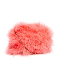 River Island Coral Feather Cross Body Bag