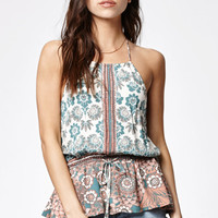 Kendall and Kylie Peplum Halter Tank Top at PacSun.com