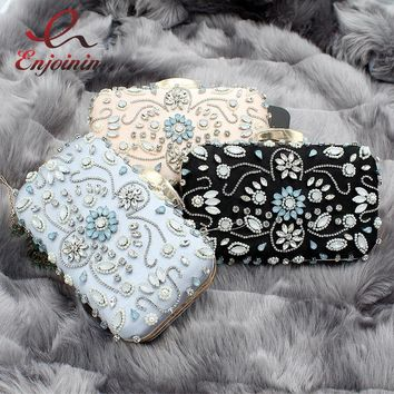 Luxury charm classic fashion diamond beaded ladies party bag clutch bag evening bag female chain shoulder bag handbag wallet