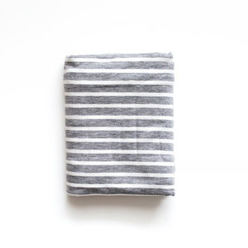 Gray and white stripe swaddle