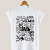 American apparel shirt arctic monkey collage art t shirt mens and woman by KerisPutih Available Size : S,M,L,XL,XXL