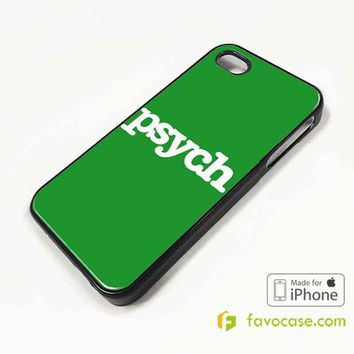 PSYCH Detective Agency iPhone 4/4S 5/5S/SE 5C 6/6S 7 8 Plus X Case Cover