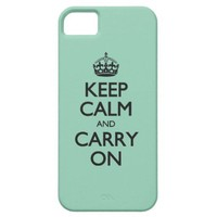 Keep Calm And Carry On Green Calcite iPhone 5 Covers