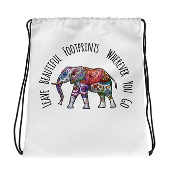 Ethereal Elephant Print Tote - Leave Beautiful Footprints Wherever You Go