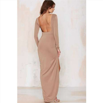 Backless Sexy Ball Gown One Piece Dress [4919725700]