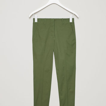 SLIM TROUSERS - Khaki green - Trousers - COS GB