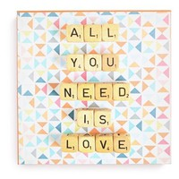 DENY Designs 'Happee Monkee - All You Need Is Love' Canvas Wall Art