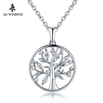 Elegant Sterling Silver Tree of Life Sterling Silver Necklace and Pendant