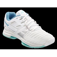Babolat SFX2 Women's All Court Tennis Shoes- White/Blue