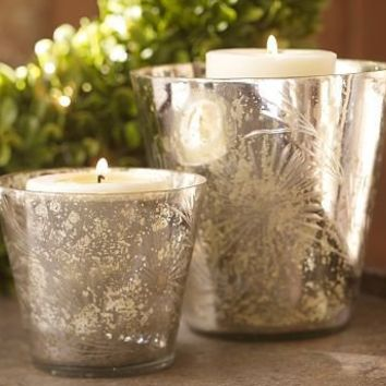Etched Mercury Cachepot | Pottery Barn