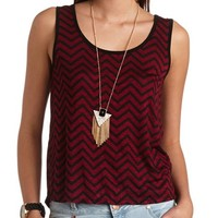 BOW BACK CHEVRON PRINT TANK TOP