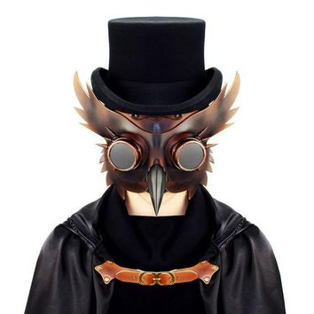 ESBON 2017 New Vintage Dr. Beulenpest Steampunk Plague Doctor Mask Bird Beak Cosplay Fancy Mask Gothic Retro Halloween Cosplay Mask