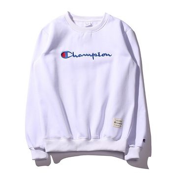 7115d3ed3094 Champion Embroidery round collar sweater thickening sweater