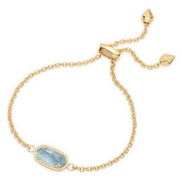 Elaina Gold Adjustable Bracelet in Light Blue | Kendra Scott