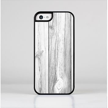 The White & Gray Wood Planks Skin-Sert for the Apple iPhone 5c Skin-Sert Case