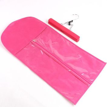 Hair Extensions Storage Bag + Weft Hanger