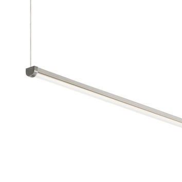 Tech Lighting 700LSRAER348S-LED840 Rae Satin Nickel 48-Inch Length 1200 Lumens 4000K 80 CRI LED Linear Suspension Pendant - (In No Image Available)