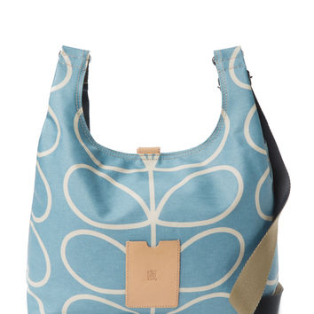 Orla Kiely Women's Linear Stem Midi Crossbody Bag - Blue