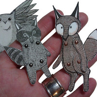 Articulated Animal Paper Dolls Wood.. on Luulla