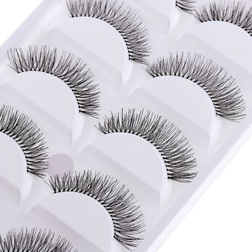 Sparse Cross Eye Lashes - 5 Pairs