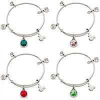 Mickey Mouse Birthstone Bangle by Alex and Ani - Silver