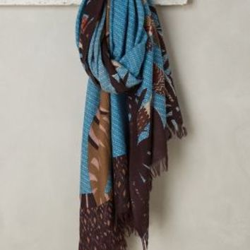 Canopy Spectacle Scarf by Anthropologie in Blue Size: One Size Scarves