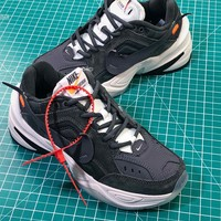 Off White X Nike Air Monarch The M2k Tekno Black Retro Sneakers - Best Online Sale