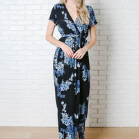 Aubrey Wrap-Front Maxi Dress