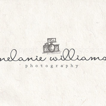 Premade photography logo design and photography logo watermark. Camera logo Vector and watermark files included.