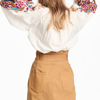 H&M Blouse with Embroidery $59.99