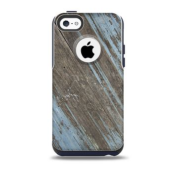 The Faded Blue Paint on Wood Skin for the iPhone 5c OtterBox Commuter Case