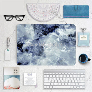 """Blue Marble Grain Front Cover Laptop Decal Sticker Case For Dell 10"""" 11"""" 12"""" 13"""" 14"""" 15"""" 17"""" Inch Guard Protective Cover Skin"""