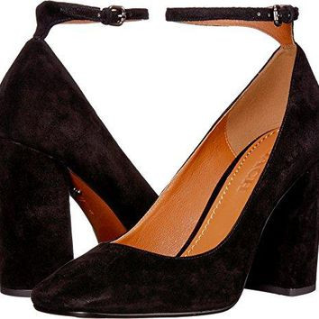 Coach Womens Suede 95mm Ankle Strap Pump