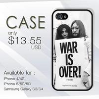 war is over john lennon and yoko ono case custom design available for iphone 4/4s,5/5s/5c and samsung galaxy S3/S4/S5 case