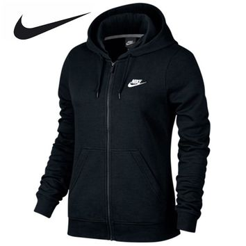 Nike Women's Slim Breathable Spring New Knitted Hooded Jacket